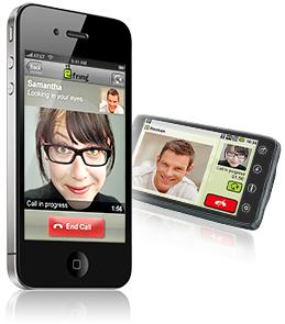 fring com vídeo-chamada no iPhone 4