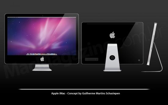 Conceito de iMac de vidro