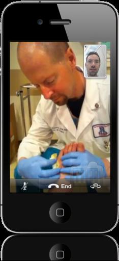 Médicos usando FaceTime