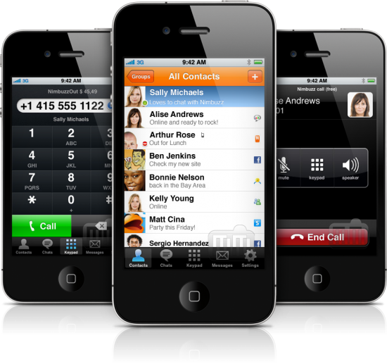 Nimbuzz 2.0.1 em iPhones