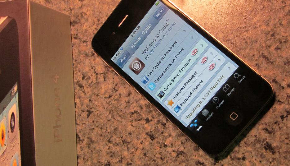 iPhone 4 de GeoHot jailbroken