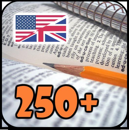Ícone - As 250 palavras mais comuns da língua inglesa