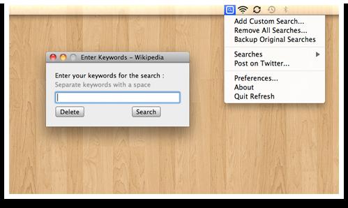 Screenshot do Refresh no Mac OS X