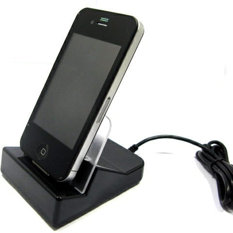USBfever -  USB Data Sync and Charging Cradle for iPhone 4 (4G)