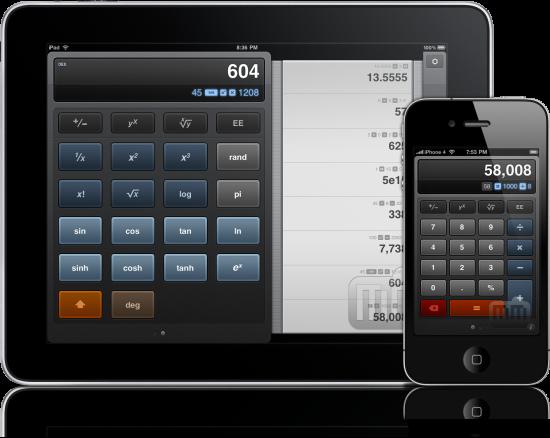 Calcbot no iPad e no iPhone 4