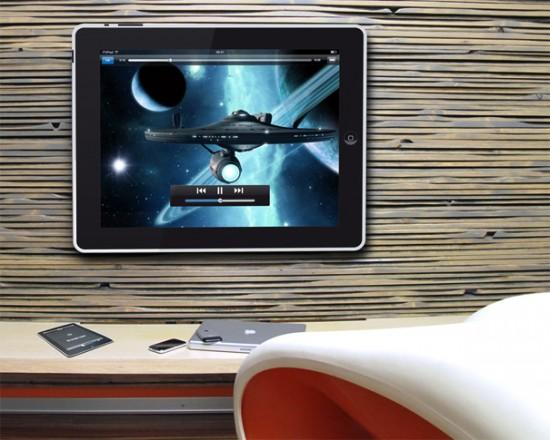 TV com adesivo de iPad