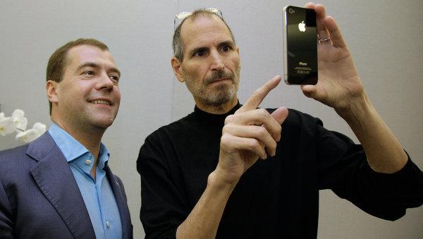 Steve Jobs com iPhone 4
