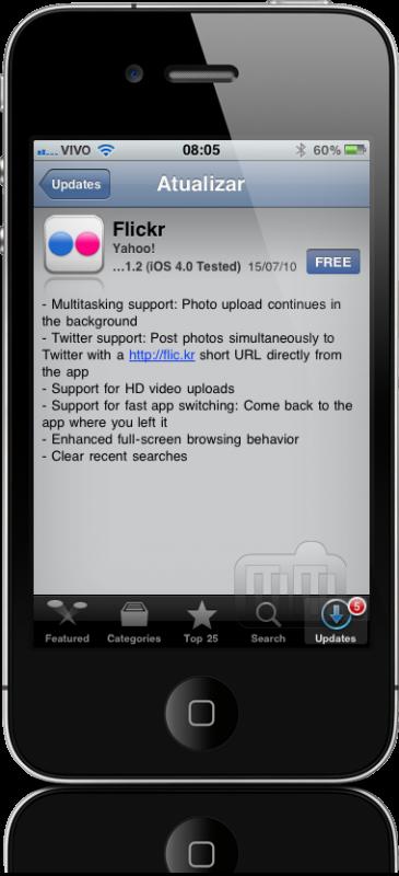 Flickr 1.2 para iPhone