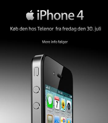 iPhone 4 na Dinamarca pela Telenor