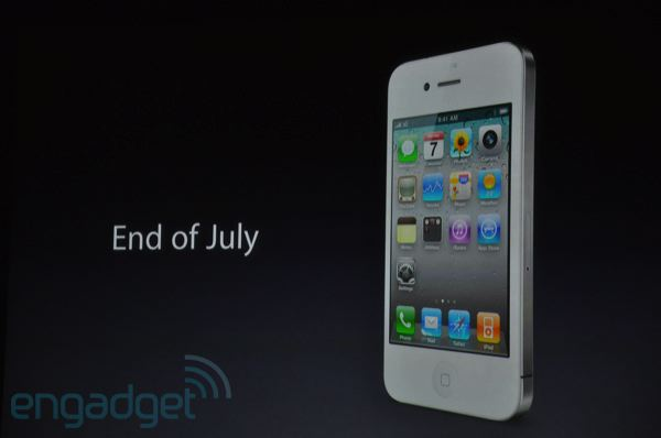 iPhone 4 branco - Final de julho