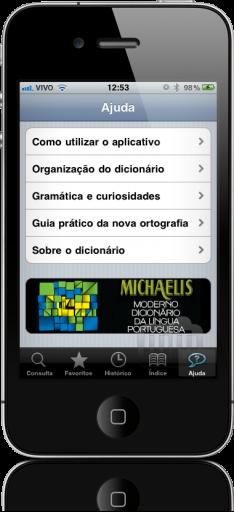 Michaelis Moderno Dicionário da Língua Portuguesa no iPhone