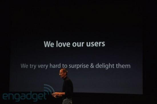 Steve Jobs - Apple ama usuários