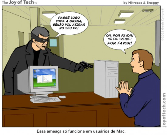Joy of Tech - Ameaca ou realizacao