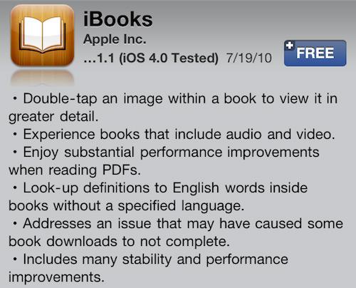 iBooks 1.1.1