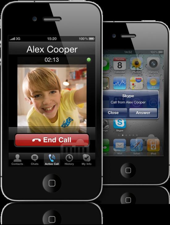 Skype 2.0.1 no iPhone 4