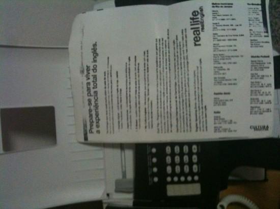 Fax real enviado pelo FaxGuru