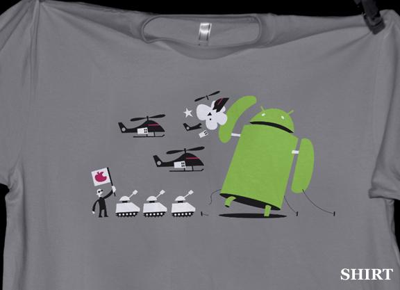 Camiseta Andy versus Apple