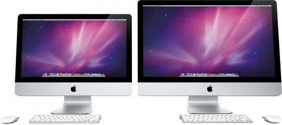 Novos iMacs vistos de frente