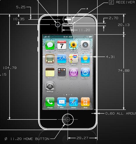 iPhone 4 em CAD
