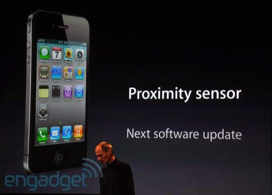 Sensor de proximidade do iPhone 4