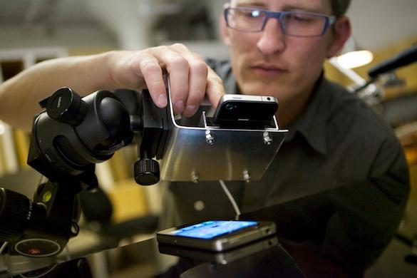Fotografando capa da Macworld do iPhone 4