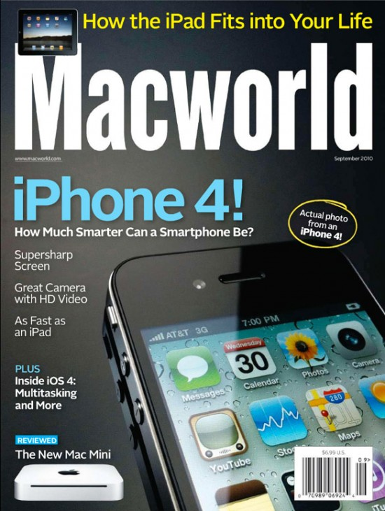 Capa do iPhone 4 da revista Macworld