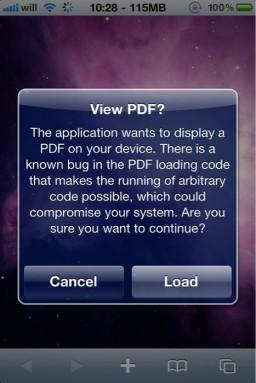 Verificação para abrir PDFs no iOS