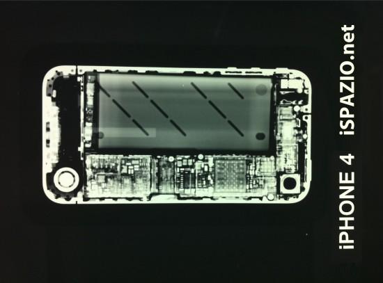 iPhone 4 num raio X