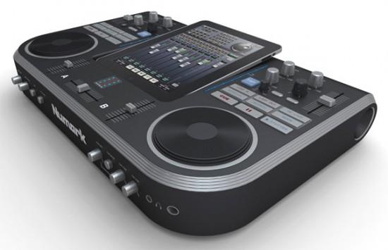 Conceito de mesa iPad DJ