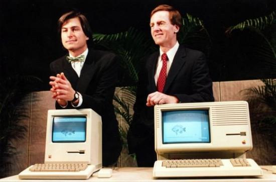 Steve Jobs e John Sculley na Apple