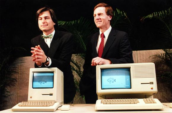 Steve Jobs e John Sculley na Apple