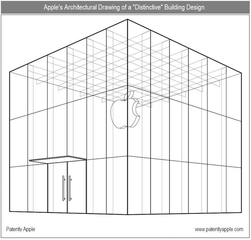Apple patenteando cubo de vidro