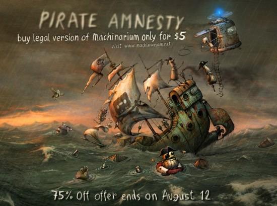 Machinarium e anistia aos piratas