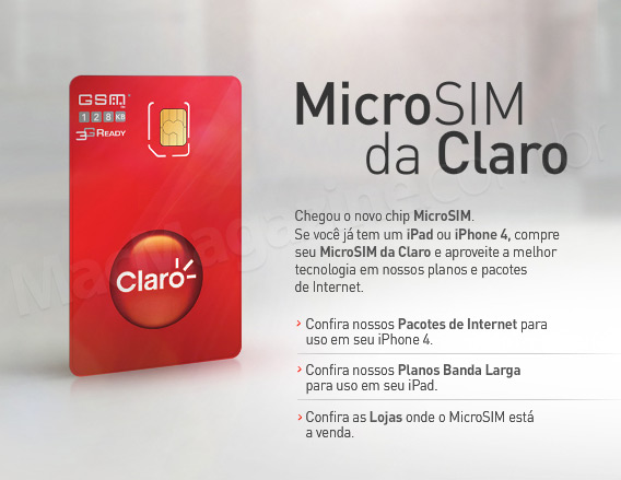 MicroSIM da Claro