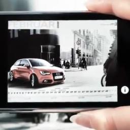 Calendário de realidade aumentada da Audi
