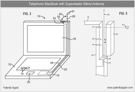 Patente de MacBook com antena