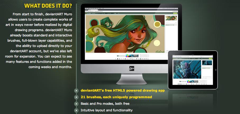 deviantART Muro, web app de desenho em HTML5