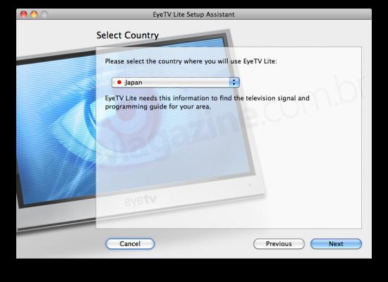 Configuração do EyeTV Lite