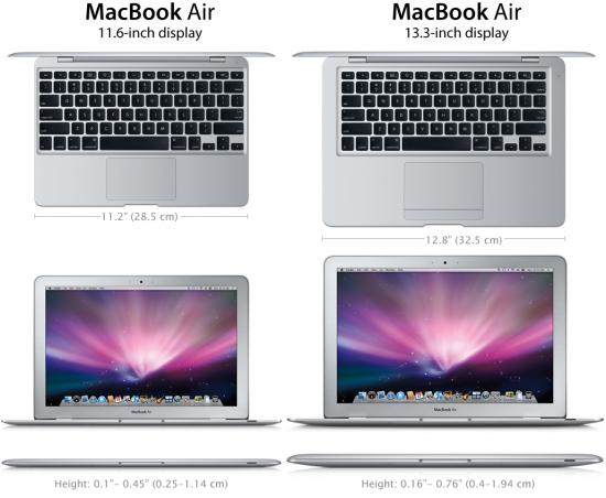 """Mockup de MacBook Air com tela de 11,6"""""""