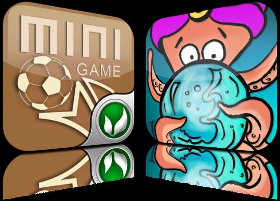 Ícones do World Champ e do Polvo Vidente, da Treta Apps