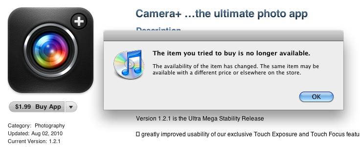 Camera+ removido da App Store