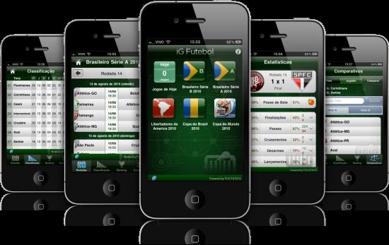 iG Futebol em iPhones