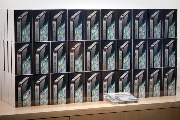 Caixas de iPhones 4