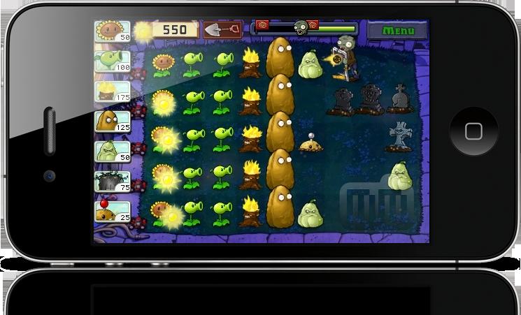 Plants vs. Zombies no iPhone