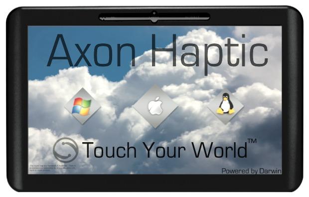 Axon Haptic, tablet com Mac OS X