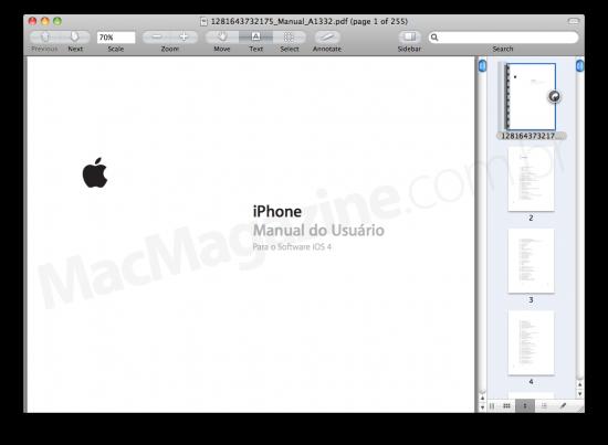 Manual do iOS 4 em português