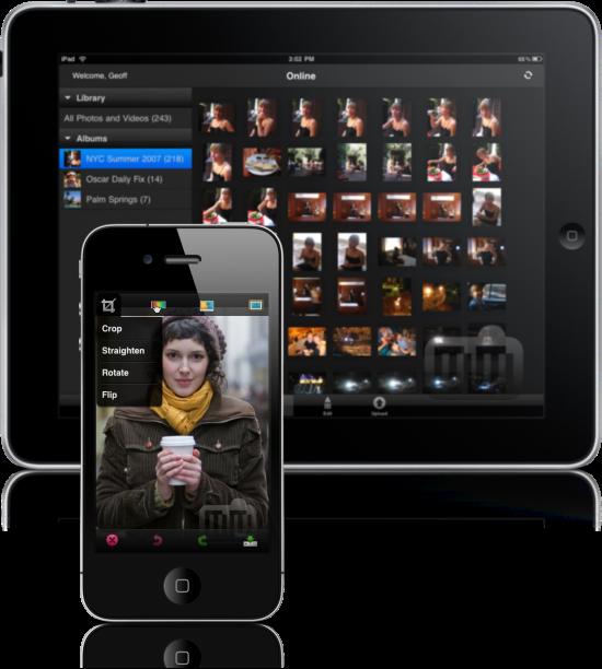 Photoshop Express no iPad e no iPhone