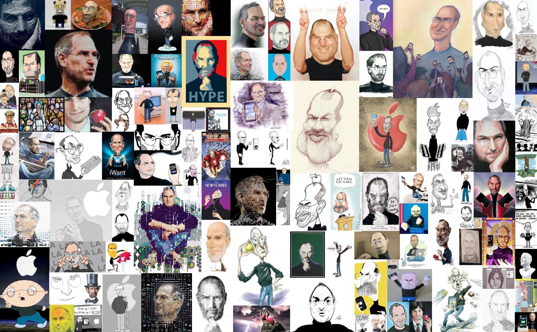 Colagem de Steve Jobs