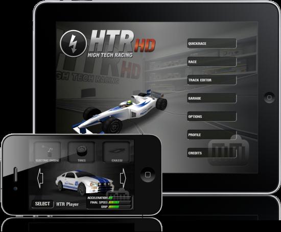 HTR High Tech Racing no iPad e no iPhone