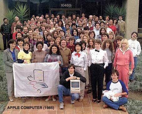 Time do Macintosh na Apple, em 1985